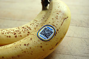Banana With QR Code