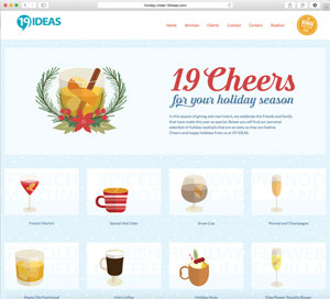 19 IDEAS - 19 Holiday Cheers Campaign