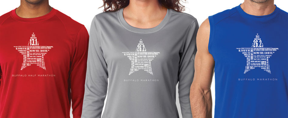 DG Apparel Official 2015 Buffalo Marathon Apparel