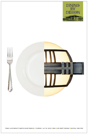 Darwin Martin House Dining by Design Poster - Plate