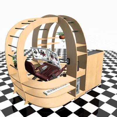 Hilton 3D Artist/Designer Launches Kickstarter Project to Fund Revolutionary Reclining Desk Design The Zero Gravity Work Pod. | Rochester NY NY Region  sc 1 st  AdHub.com & Hilton 3D Artist/Designer Launches Kickstarter Project to Fund ... islam-shia.org