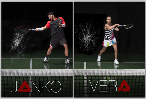 Janko Tipsarevic & Vera Zvonareva for Fila / Amy Gray Photography