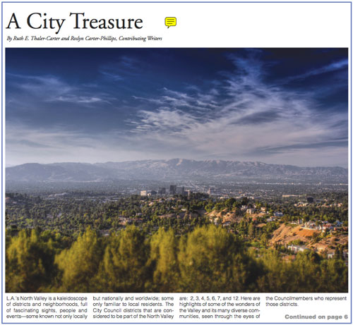 City Treasure article for El Pueblo Magazine
