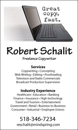 Robert Schalit Freelance Copywriter
