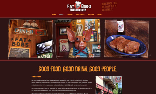 Fat Bob's Smokehouse Website