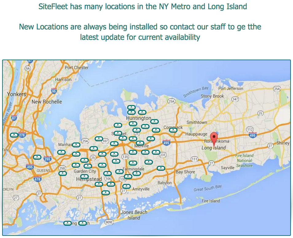 SiteFleet has many locations in the NY Metro and Long Island