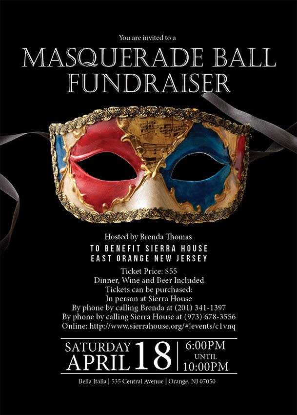 Masquerade Party Invite Postcard