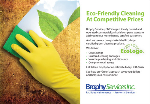 Brophy Services Eco-Logo Ad