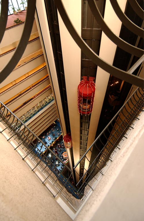 Elevators-Marriot Marquis, NYC